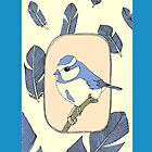 blue bird phone case by KillerCupcake
