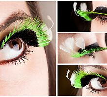 Green Lashes 2 by Katherine Bogle