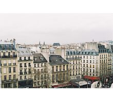 parisian rooftops Photographic Print