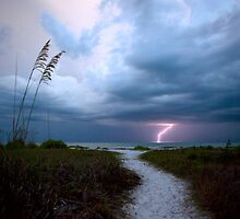 Lone Lightning Strike by lattapictures