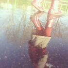 Boots in magic puddle by Marie Charrois