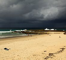 Storm Over Snapper Rocks by Noel Elliot