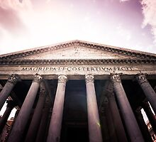 Pantheon at Sunset: Rome, Italy by thewaxmuseum