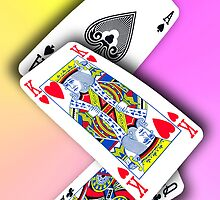 Smartphone Case - Ace King Queen - UV by Mark Podger