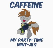 Caffeine: My Party Time Mint-als (Little Pip from Fallout: Equestria) Kids Clothes