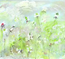 The hills were alive with wildflowers by Maree  Clarkson