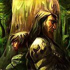 Wolf and Hound by kallielef84