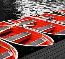 Little Red Rowing Boats by Ken Watt Photography