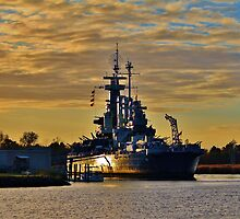 Sun Reflection On The Battleship by Cynthia48