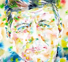 JOHN F. KENNEDY - watercolor portrait by lautir