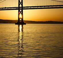 Framing the Sunrise at San Fransisco's Bay Bridge in California by Georgia Mizuleva