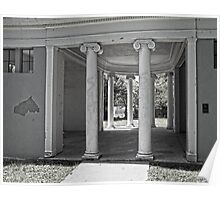 Vintage Parthenon Pillars Poster
