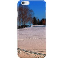 Hiking through winter wonderland III | landscape photography iPhone Case/Skin