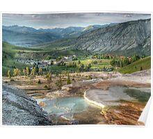 Mamouth Springs Yellowstone national Park Poster