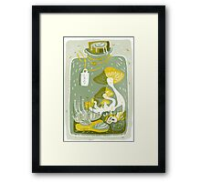Mushroom Terrarium Framed Print