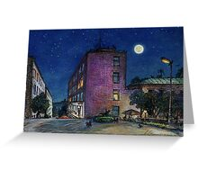 Town. Evening Greeting Card