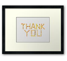 Merlin: Thank You Framed Print