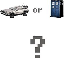 DeLorean or Tardis by Geoffgroth