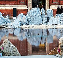 Standing Stones, Lake, Reflections & some Cherry Blossom  by MarcW