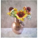 Rudbeckia in a Copper Pitcher by LouiseK