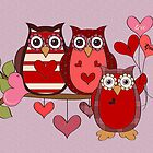 Owls in Love by LoneAngel