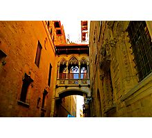 Barrio Gotic, Barcelona Photographic Print