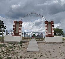 Wounded Knee Cemetery by Eliot  Reed
