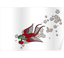 Red Swallow Poster