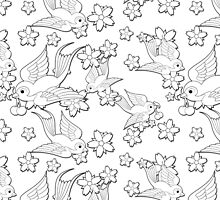 Black and White Swallow Pattern by jelly-roger
