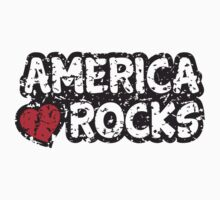 America rocks sticker, grunge by Mhea