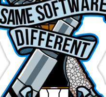 Same Software Different Case (Colored Version) Sticker