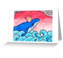 King of the Whales Greeting Card