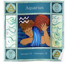 Aquarius (Coloured) Poster