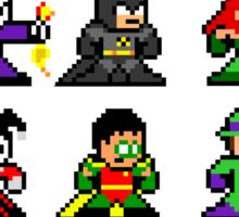 8-bit Gotham Sticker Sticker