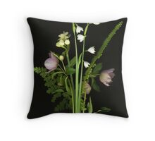 Early Year Bouquet Throw Pillow