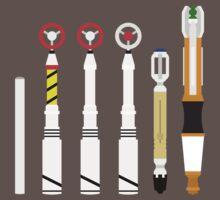 Simplistic Sonic Screwdrivers lineup by sasukex125