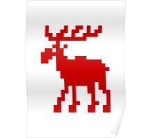 Pixel Moose Poster