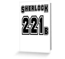 Sherlock 221b - Sports Jersey - SHERLOCK Greeting Card