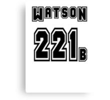 Watson 221b - Sports Jersey - SHERLOCK Canvas Print