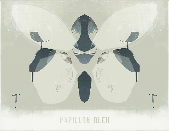 papillon bleu by linda vachon
