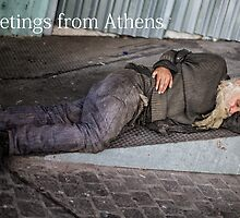 Greetings from Athens III by Elisabeth Verwaest