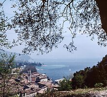 Riva da Garda taken on way down from Le Bastion Italy 198404210033 by Fred Mitchell