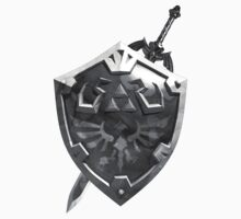 Zelda Sword and Shield BnW by D4RKFQX