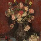 Van Gogh - Vase with Chinese asters and gladioli by TilenHrovatic