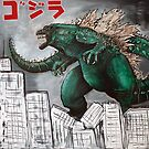 Godzilla Gojira by Laura Barbosa