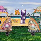 Kombi Camp no. 2 by Lisa Frances Judd~QuirkyHappyArt