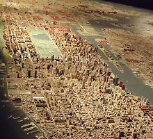 New York City Panorama, Scale Model of New York City, Queens Museum, Queens, New York  by lenspiro