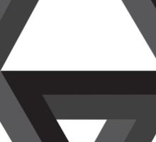 Dark Impossible Triforce Sticker