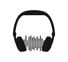 Music Headphone Design Photographic Print