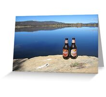 Beer by the Water Greeting Card